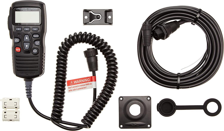 Black Remote Control//mic Standard Horizon CMP31B 2 RAM3
