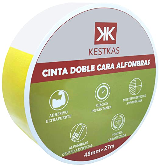 4 X Cinta De Alfombra Doble Cara Adhesivo Multiuso Fuerte Resistente 48mm X 25M