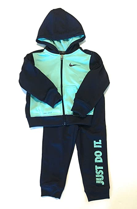 ed9b56f33e Amazon.com: Nike Infant Boys Just Do It Dri-Fit Tracksuit Binary Blue Size  12 Months: Sports & Outdoors