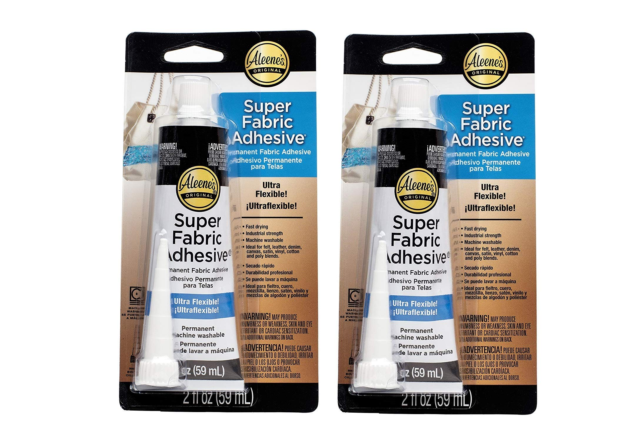 Aleene's Platinum Bond Adhesive Super Fabric 2 oz (2) by Aleene's