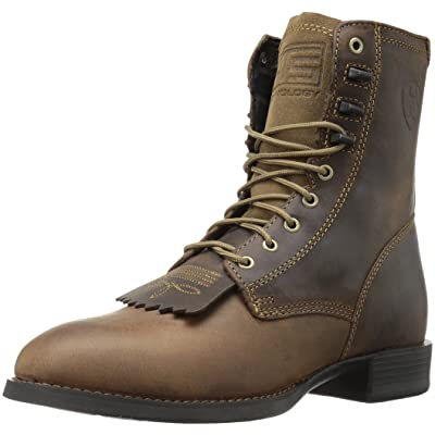 Ariat Men's Heritage Lacer Western Cowboy Boot, Distressed Brown, 10.5 D US | Western