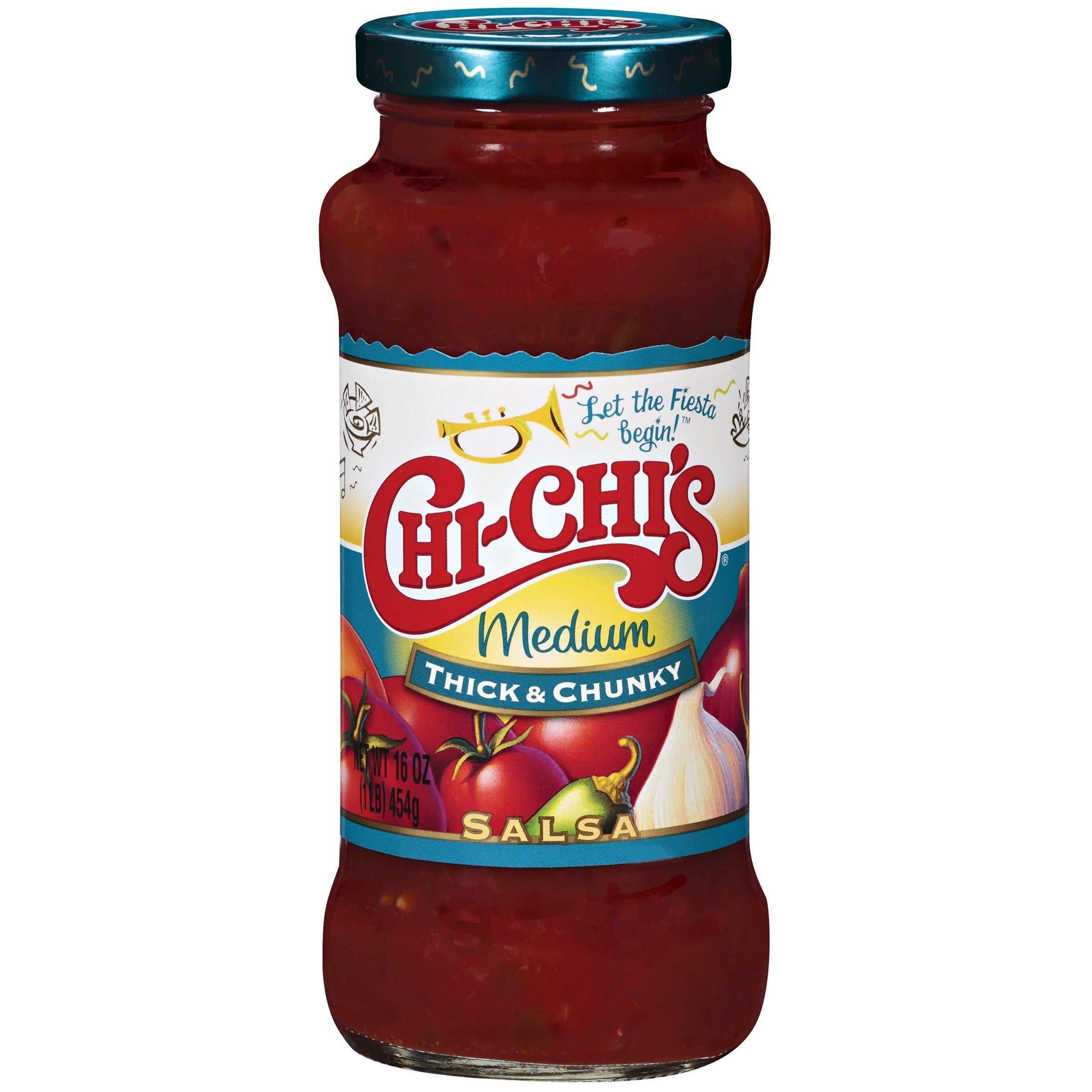 Chi-Chi's Salsa Thick & Chunky Medium 16 OZ (Pack of 24)
