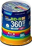 三菱化学メディア Verbatim BD-R(Video) <片面2層> 1回録画用 360分 1-6倍速 スピンドルケース 100枚 インクジェットプリンタ対応(ホワイト) ワイド印刷エリア対応 VBR260RP100SV1