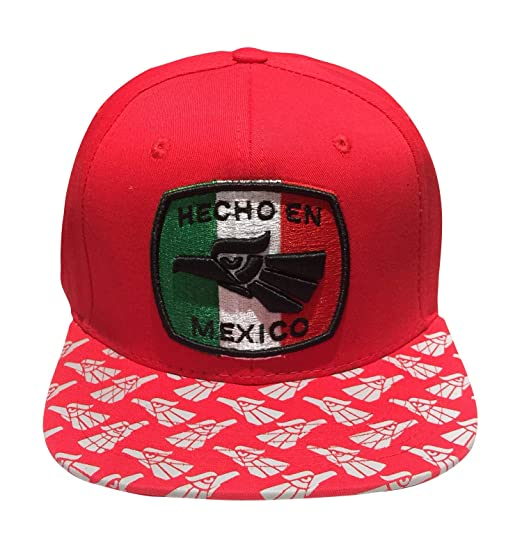 617768a36 Mexican Eagle Hecho En Mexico Made in Mexico Flatbill Snapback Hat ...