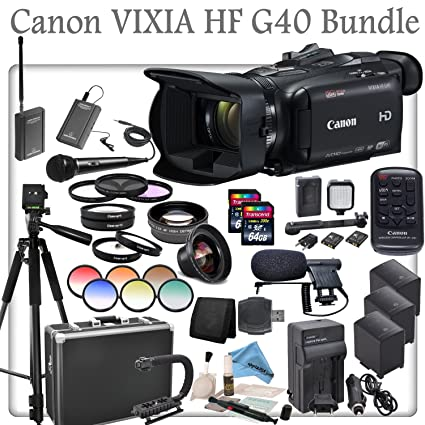 8ecdb57c90 Canon VIXIA HF G40 Full HD Camcorder with Documentary Interview Bundle   Includes Wireless Lapel