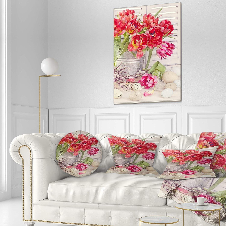23 x 23 Square Floor Pillow Kess InHouse Emine Ortega Retro Circles Pastel