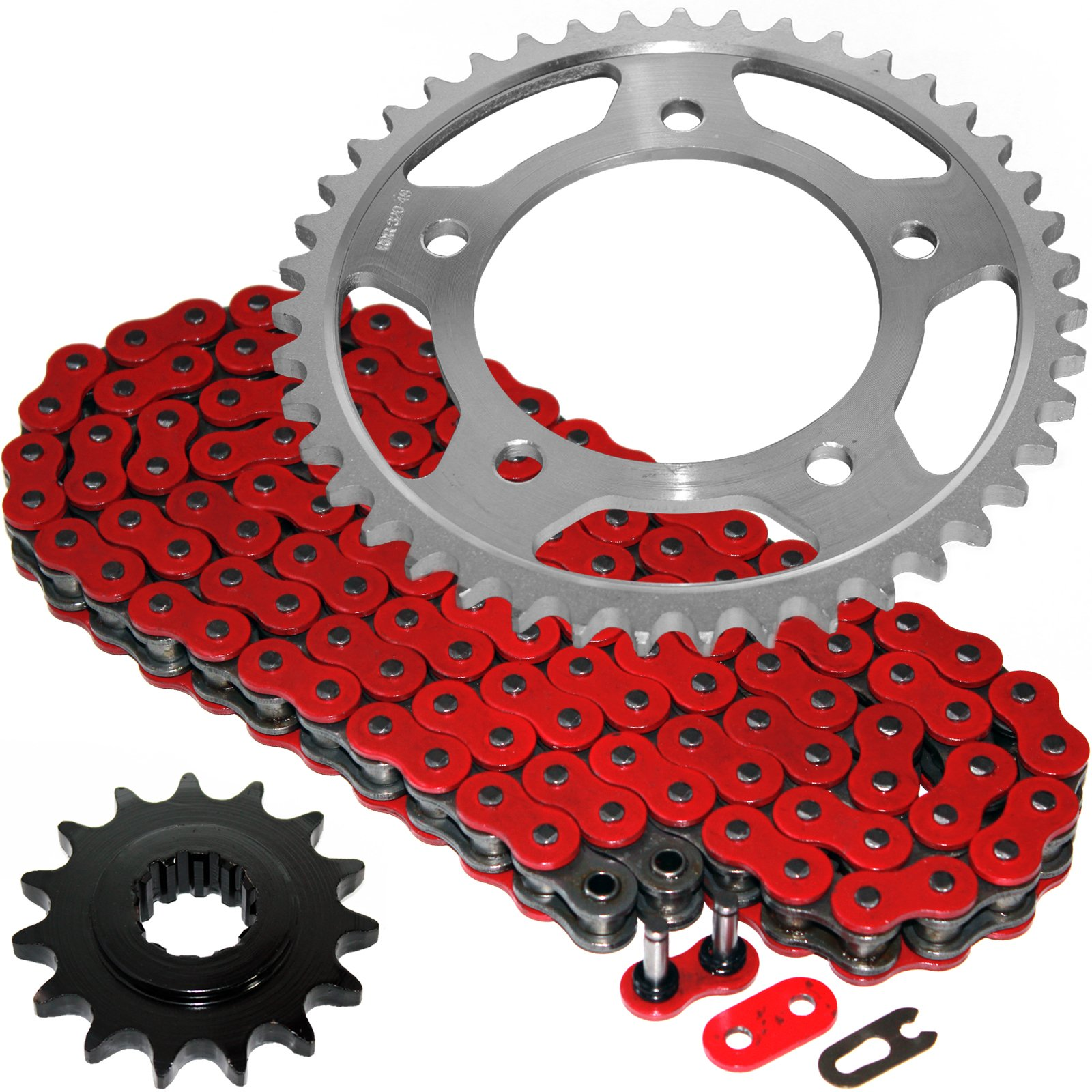 Caltric Red O-Ring Drive Chain & Sprockets Kit Fits HONDA CBR600F3 CBR-600F3 Super Sport 600F3 1995-1996