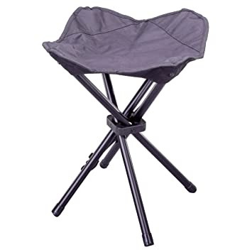 Nexos 2er Set Camping-Hocker schwarz 4-beinig Mini Campingstuhl f/ür Angeln Reise Wandern Garten Gestell grau Bespannung schwarz Outdoor faltbar
