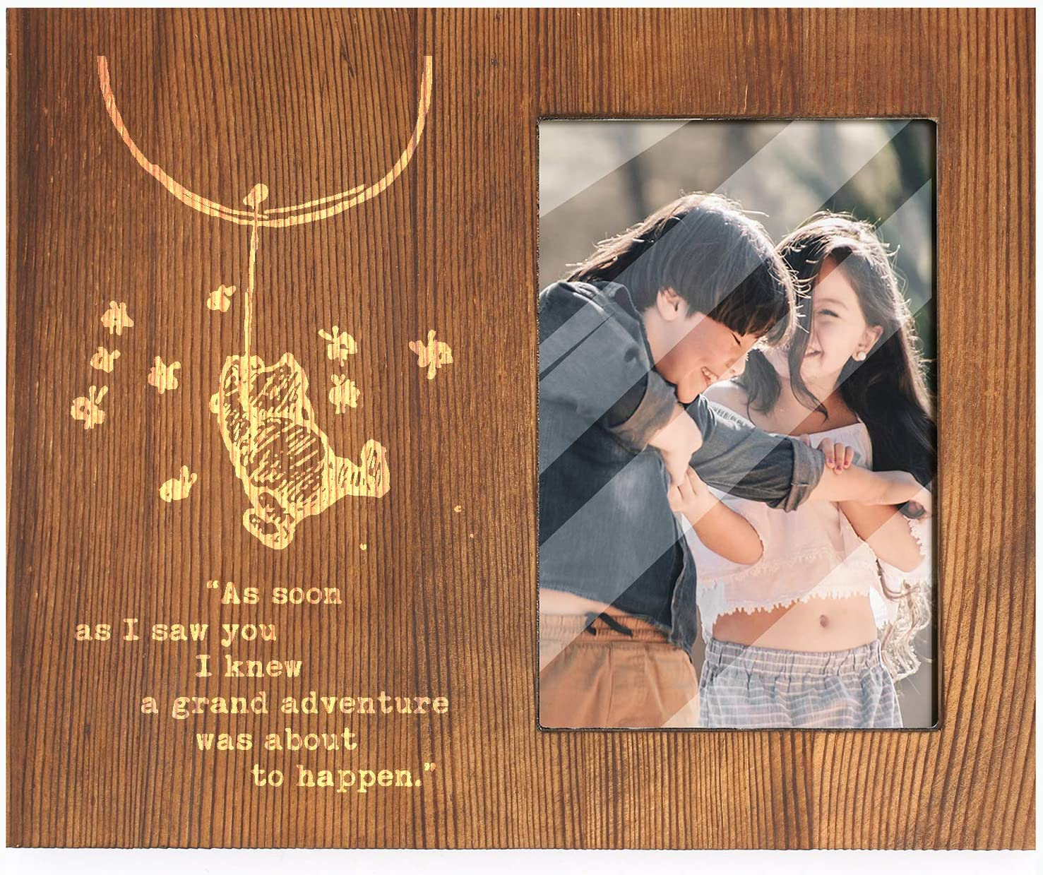 Ku-dayi As Soon As I Saw You-Inspirational Winnie The Pooh Quotes -Friends Expressions Picture Photo Frame -Best Friendship Gifts for Friends, Sisters
