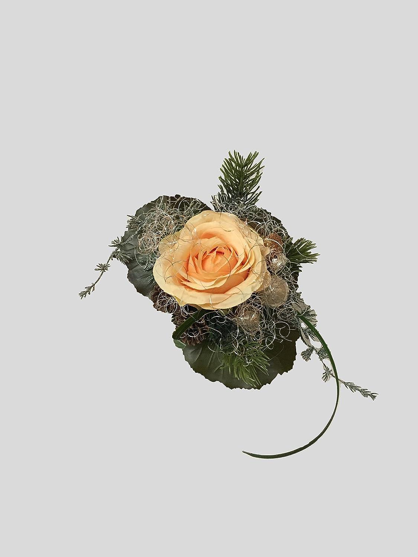 Blumenstrauss künstlich Winter Seidenblume Liegestrauß Weihnachtsstrauß Nr.9