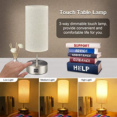 Details about  /Sailstar Dimmable Night Light for Kids Touch Bedside Lamp for Breastfeeding