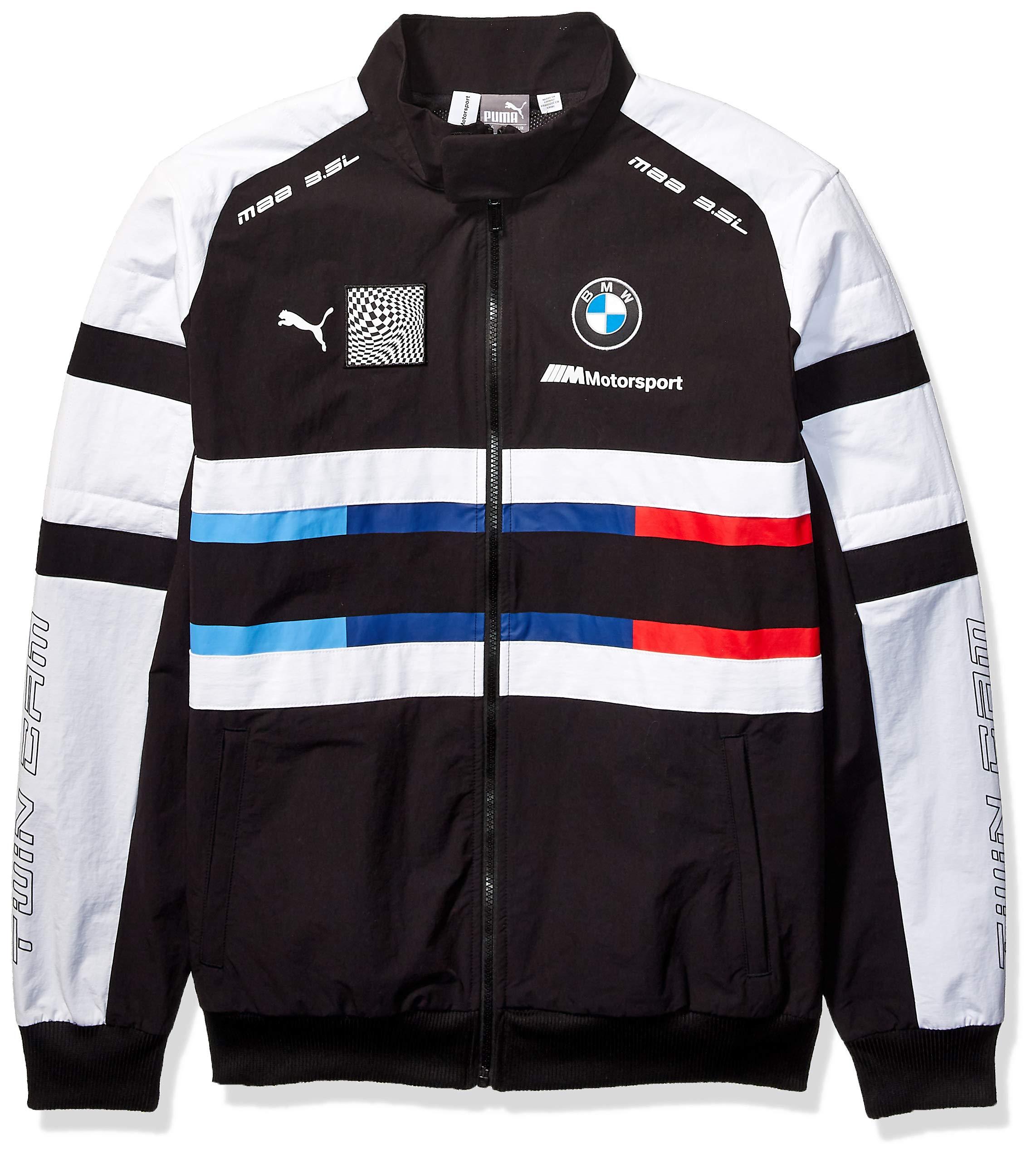 PUMA Men's BMW Motorsport Street Woven Jacket, Black, XX-Large by PUMA