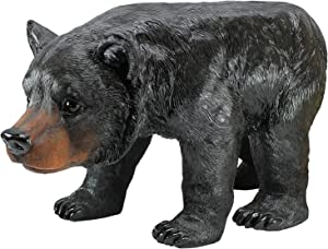 Design Toscano Black Bear Sculptural Stool