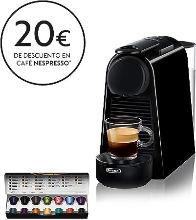 Nespresso DeLonghi Essenza Mini EN85.B - Cafetera monodosis de cápsulas Nespresso, compacta, 19 bares, apagado automático, color negro: Amazon.es: Hogar