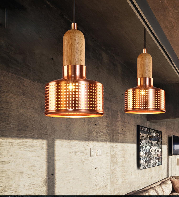foshan mingze 1 light pendant light copper and wood finished