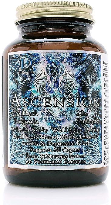 5D Ascension 55 Herb Blend 20X Strength Whole Body Wellness Formula (60 Veg  Capsules) -