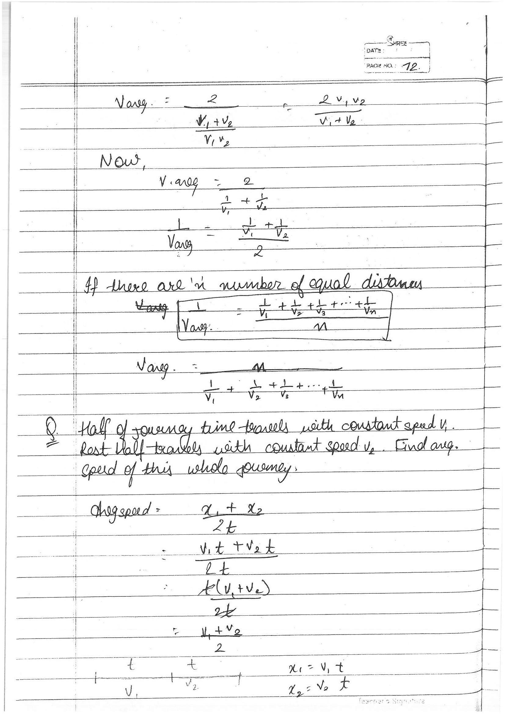 COMPLETE PHYSICS XI FOR IIT ADV TOPPERS HANDWRITTEN NOTES FOR IIT