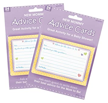 baby shower new mommy advice cards 48