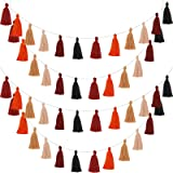 4 Pieces Cotton Tassel Garland Colorful Tassel Banner Decorative Wall Hanging for Christmas Valentine Thanksgiving…