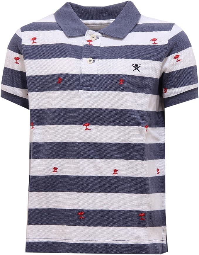 3252U polo bimbo HACKETT maglia blue/white polo t-shirt kid boy ...