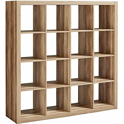 Modern Sixteen Square Cubbies Weathered Closet Storage Unit With Cubes  Shelves Cabinet Shoe Organizer Space Saver