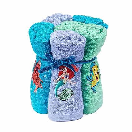 Disney Princess Ariel de la Sirenita 100% algodón rizo 6 unidades toallitas para niños –