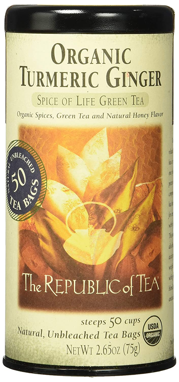 REPUBLIC OF TEA Organic Turmeric Ginger Green Tea, 50 CT