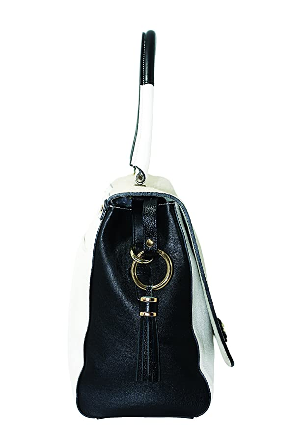 Ila Handbag Hero Black Brown Leather Tassel Key Holder Finder Keyring Strap Gift