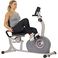 Sunny Health & Fitness Unisex Adult Sf-Rb4905 Magnetic Recumbent Exercise Bike - Grey, One Size