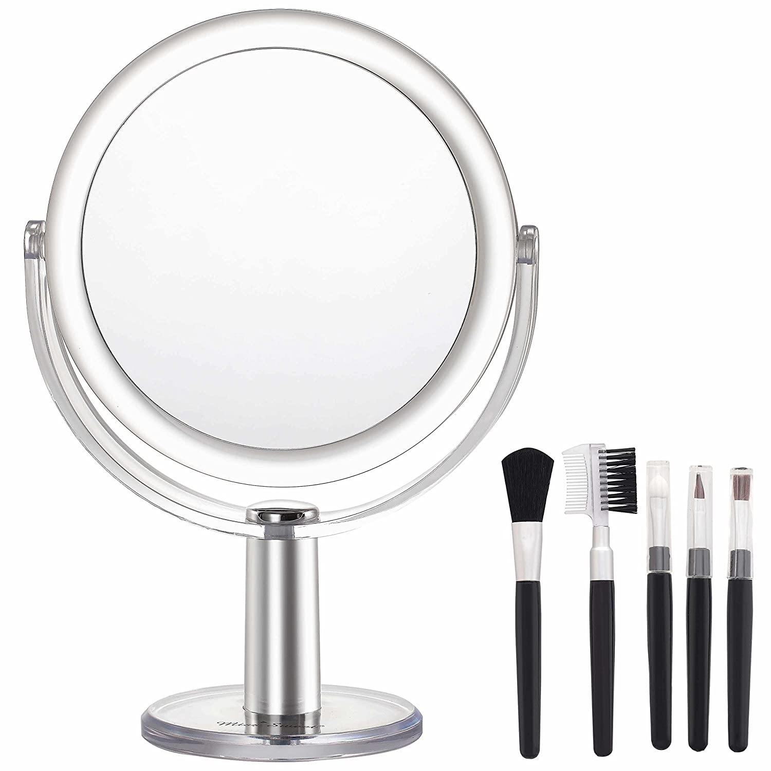 Miss Sweet Tabletop Mirror Dual Sided Vanity Mirror (True image&5X)
