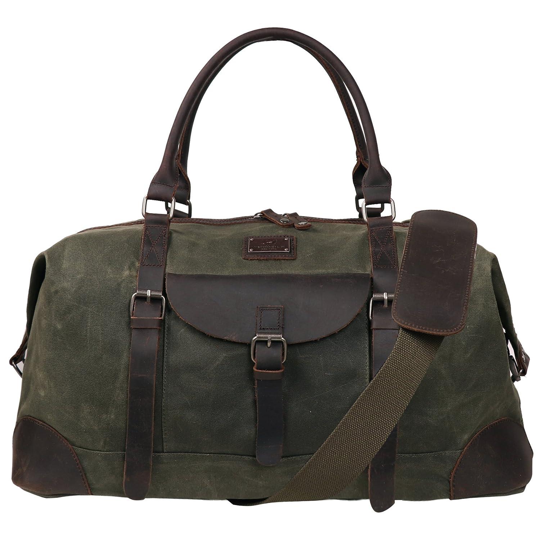 3b47e9cbaebad5 Amazon.com | Canvas Duffel Bag TOPWOLFS 22
