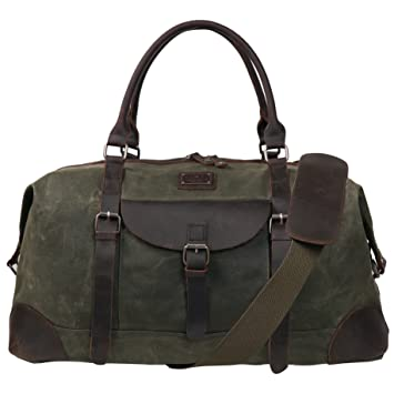Amazon.com   Canvas Duffel Bag TOPWOLFS 22