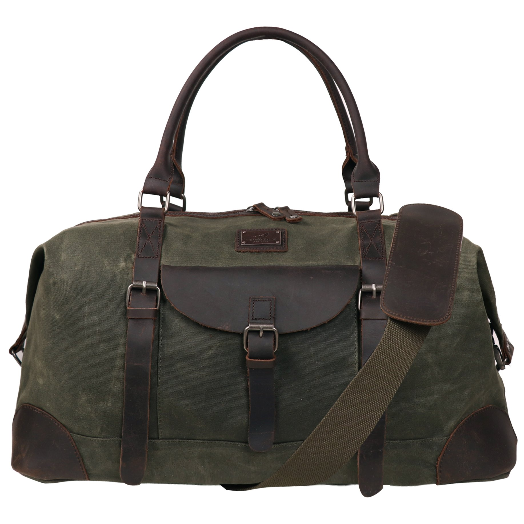 Canvas Duffel Bag TOPWOLFS 22'' Travel Duffle Bag Tote Large Holdall Luggage Carry On Weekender Bag Waterproof Waxed Canvas