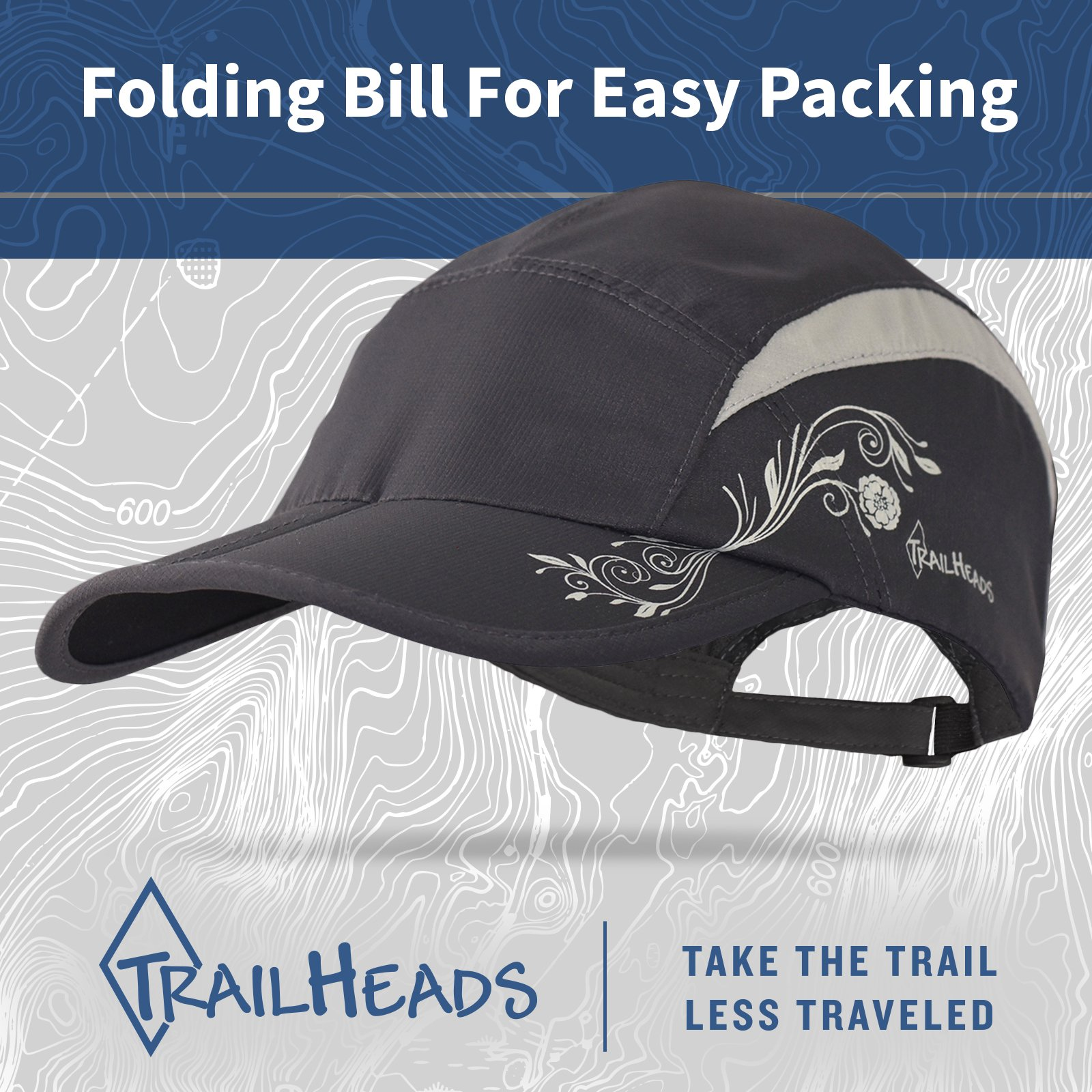 TrailHeads Lightweight Travel Hat | Summer Running Cap for Women | Folding Hat with UV Protection - Medium/Large by TrailHeads (Image #5)