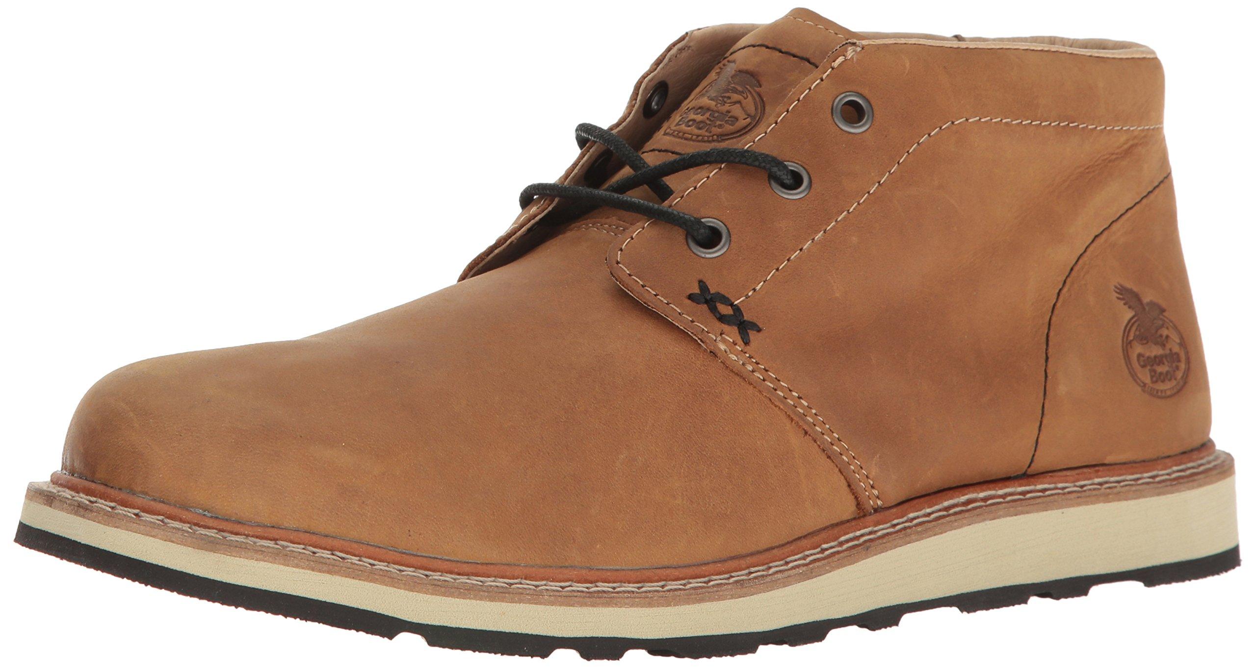 Georgia GB00176 Loafer, Saddle Tan, 9 W US