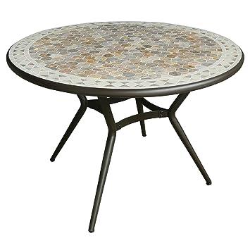 Fez Table de jardin fixe en céramique et marbre: Amazon.fr: Cuisine ...