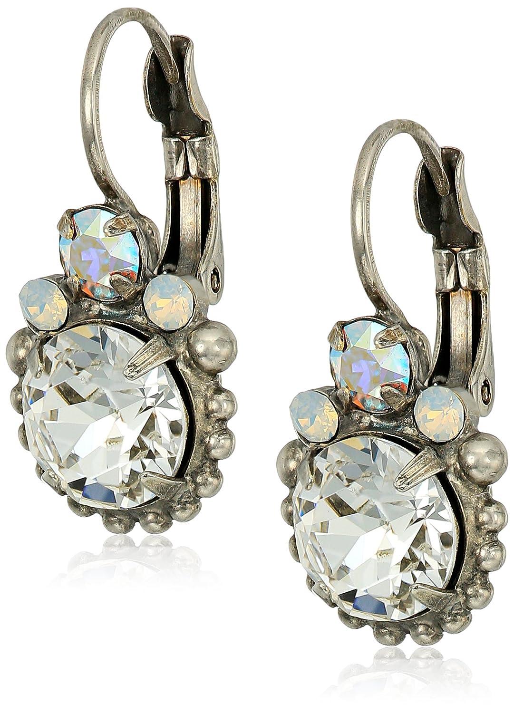 Sorrelli White Bridal Solar Flare Drop Earrings