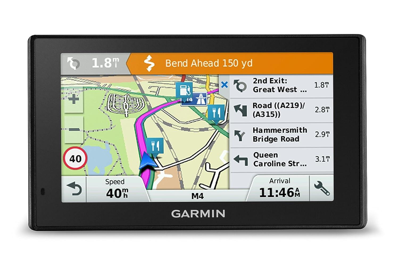 Garmin DriveSmart 50LM 5 inch Sat-Nav for Cars Satellite Navigation System with Full Europe including UK Lifetime Map Updates and Smartphone Link Traffic