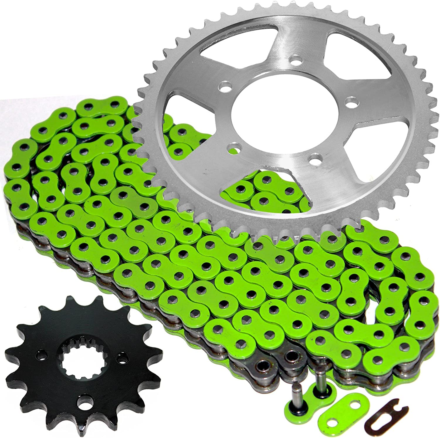 Caltric Green O-Ring Drive Chain /& Sprockets Kit for Suzuki Gsf600S Gsf-600S Bandit 600 1996-1999