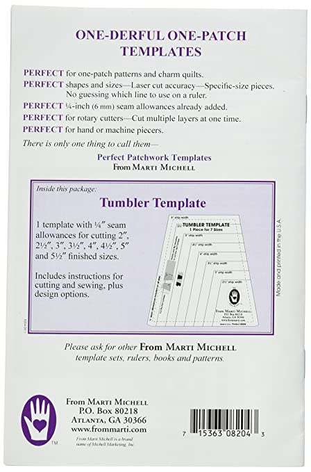 amazon com marti michell 8204 8 size one derful tumbler template