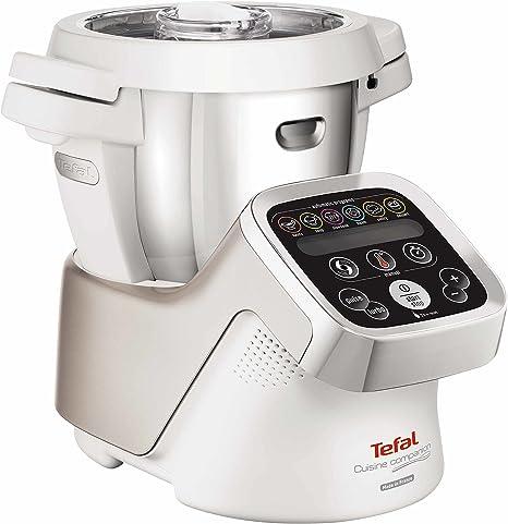 Tefal Cuisine Companion FE800A - Robot de cocina (4,5 L, Acero inoxidable, Blanco, Tocar, 16000 RPM, 2,5 L, 30-130 °C): Amazon.es: Hogar