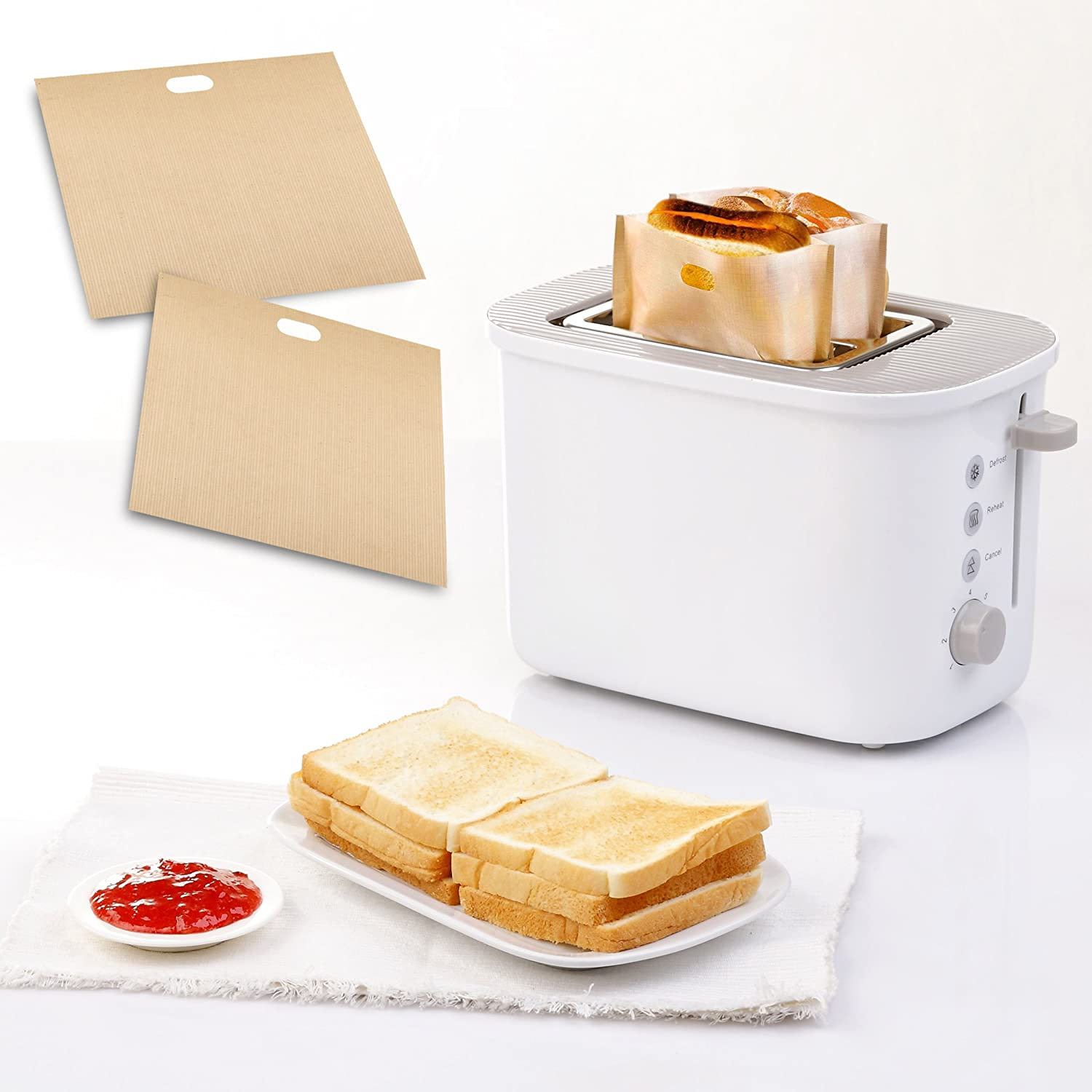 Amazon Toaster Bags for Grilled Cheese Sandwiches Made Easy