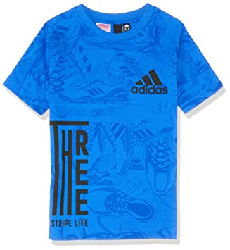 adidas Id Print T-Shirt à Manches Courtes pour garçon M Blue Collegiate Navy b22dfacadf4