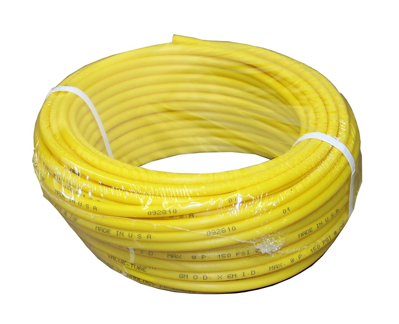 "ATP IMBIBE NSF 61 Polyethylene Plastic Tubing, Yellow, 11/64"" ID x 1/4"" OD, 100 feet Length"