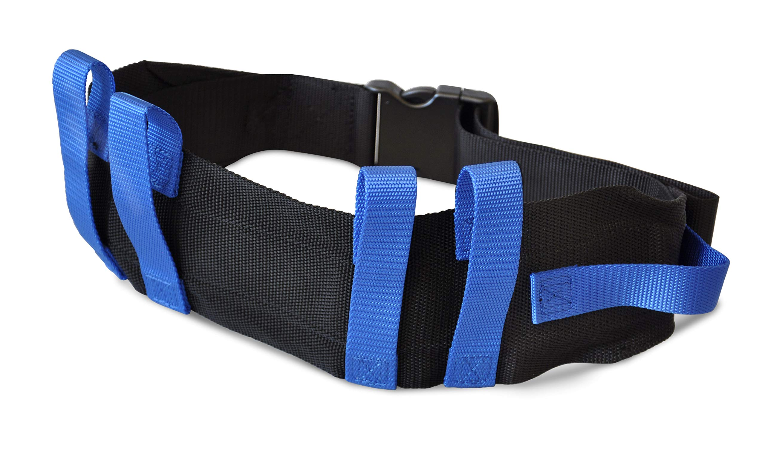 "NYOrtho Transfer Gait Belt with 6 Handles | Quick Release Metal Buckle for Elderly and Patient Care | Adjustable Size 28"" to 55"""