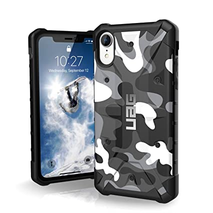 best sneakers e1ac5 28ce6 Urban Armor Gear UAG Pathfinder Rugged Protection Case / Cover Designed for  iPhone XR (Military Drop Tested) - Arctic Camo