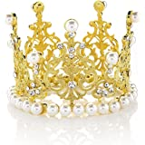 MRH/&Crown Crystal Crown Vintage Peacock Rhinestone Crown Strong Stones Will Not Fall Birthday Party Beauty Pageant Adult Ceremony Prom Wedding Cake Topper for Bride Bridesmaid Queen Princess Girl