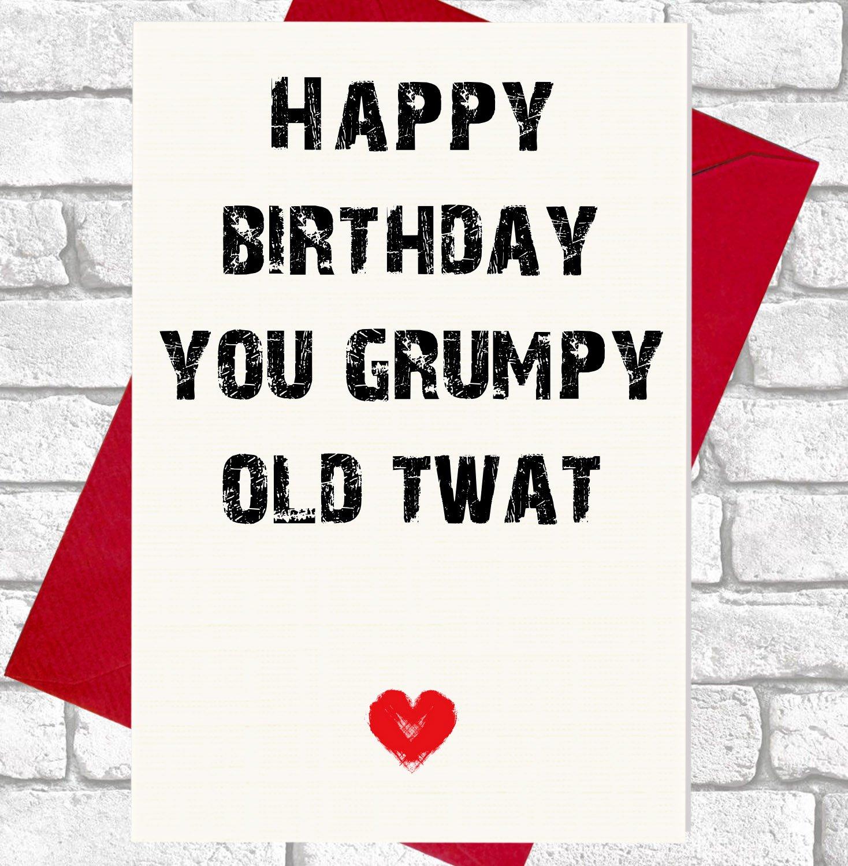 Funny 50th Birthday Card For Men Women 50 Today fensive Joke