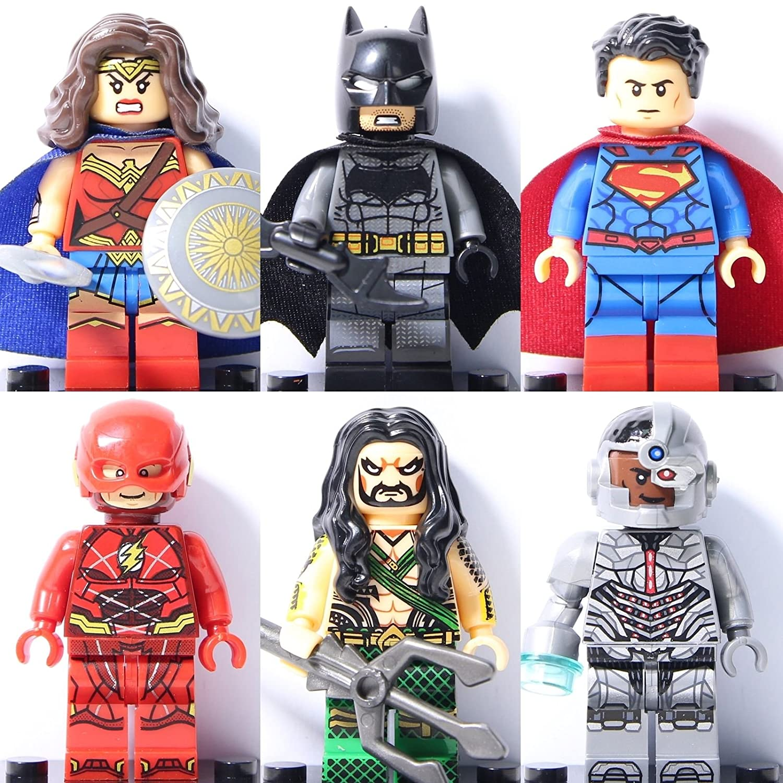 8PCS Batman mini Figure Kids Toy For LEGO Super Hero Justice League MinFigures