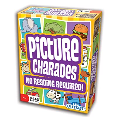 Picture Charades for Kids - No Reading Required! - An Imaginative Twist on a Classic Game Now for Young Children - Contains 4 Desk, 192 Cards Total - Ages 4+: Toys & Games
